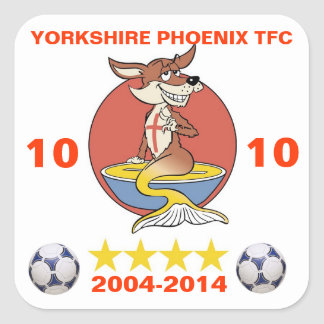 Yorkshire Phoenix TFC 10th Anniversary Square Sticker