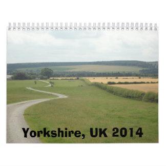 Yorkshire, Reino Unido 2014 Calendario De Pared