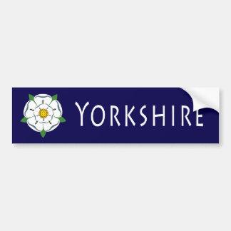 Yorkshire Rose Bumper Sticker Car Bumper Sticker