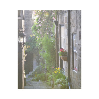Yorkshire Street Stretched Canvas Print