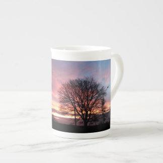 Yorkshire sunset autumn colours tea cup
