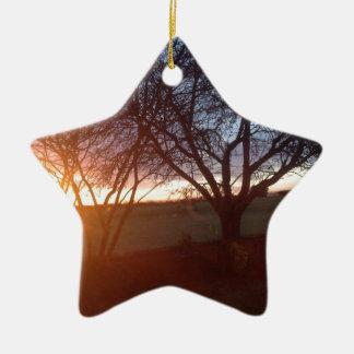 Yorkshire Sunset Ceramic Ornament