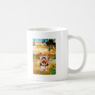 Yorkshire Terrier 17 - jardín (VG) Taza