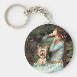 Yorkshire Terrier 17 - Ophelia Seated Key Chain
