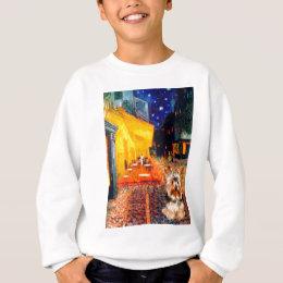 Yorkshire Terrier 17 - Terrace Cafe Sweatshirt