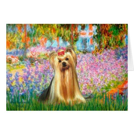 Yorkshire Terrier 1 - jardín Tarjeta De Felicitación