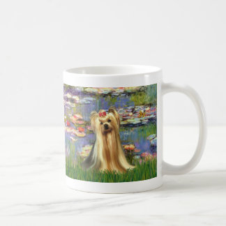 Yorkshire Terrier 1 - lirios 2 Taza Clásica
