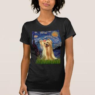 Yorkshire Terrier 1 - Starry Night (Vert.) T-Shirt