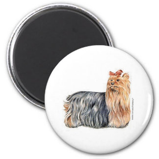 Yorkshire Terrier 2 Inch Round Magnet