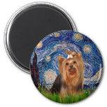 Yorkshire Terrier 7 - noche estrellada Iman De Frigorífico