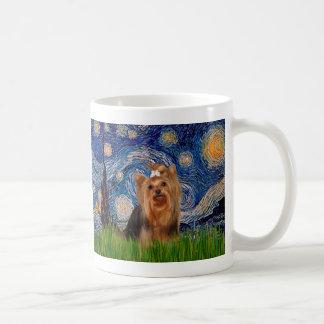 Yorkshire Terrier 7 - noche estrellada Taza
