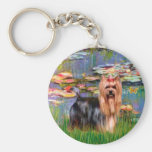 Yorkshire Terrier 9 - Lilies 2 Key Chains