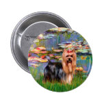 Yorkshire Terrier 9 - Lilies 2 Pinback Button