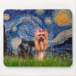 Yorkshire Terrier 9 - Starry Nightpng Mouse Pad