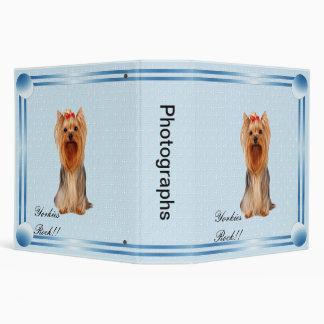Yorkshire Terrier - azul con el diseño blanco del