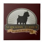 Yorkshire Terrier Azulejo Cuadrado Pequeño
