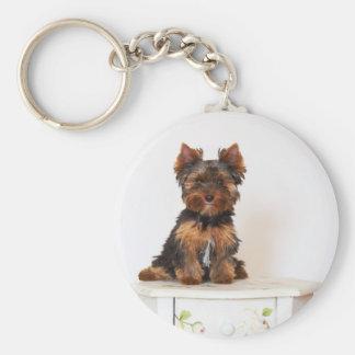 Yorkshire Terrier Basic Round Button Keychain