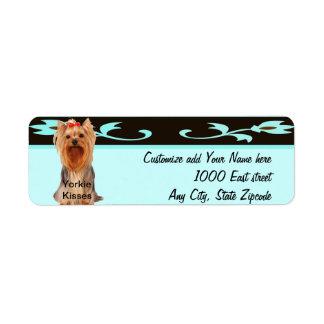 Yorkshire Terrier - besos de Yorkie Etiquetas De Remite
