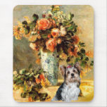 Yorkshire Terrier (Biewer) - florero de flores Mousepads
