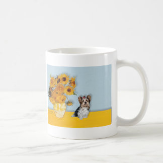 Yorkshire Terrier (Biewer) - girasoles Taza