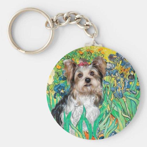 Yorkshire Terrier (Biewer) - iris Llavero Redondo Tipo Pin