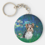 Yorkshire Terrier (Biewer) - lirios 5 Llavero Redondo Tipo Pin