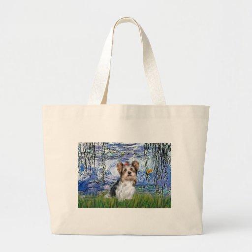 Yorkshire Terrier (Biewer) - lirios 6 Bolsa Tela Grande