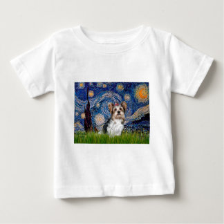 Yorkshire Terrier (Biewer) - Starry Night Baby T-Shirt