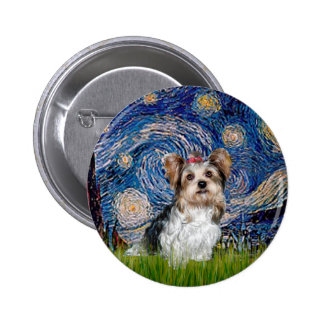 Yorkshire Terrier (Biewer) - Starry Night Buttons