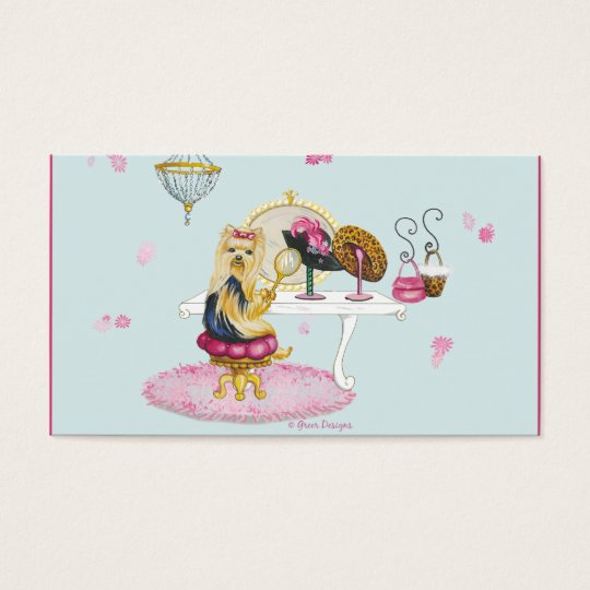 Yorkshire Terrier Boudoir Business Cards