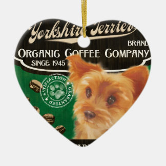 Yorkshire Terrier Brand – Organic Coffee Company Ceramic Ornament