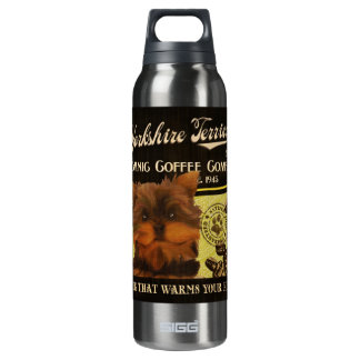 Yorkshire Terrier Brand – Organic Coffee Company 16 Oz Insulated SIGG Thermos Water Bottle
