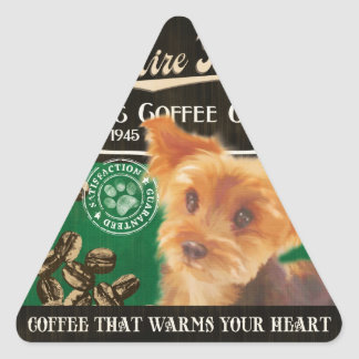 Yorkshire Terrier Brand – Organic Coffee Company Triangle Sticker