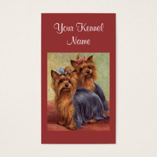 Yorkshire Terrier Breeder Business Card
