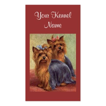 Yorkshire Terrier Breeder Business Card