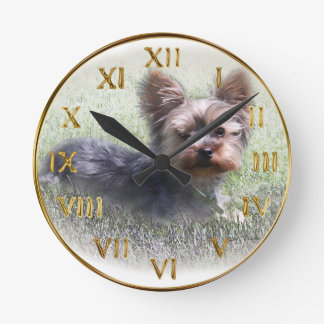 Yorkshire Terrier Buddy multiple products selected Round Clock