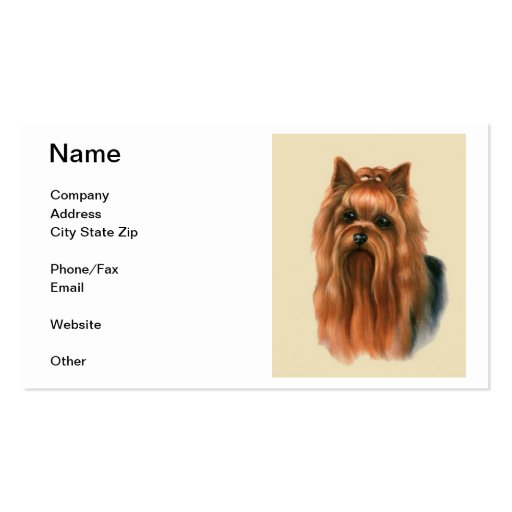 Yorkshire terrier business cards business card templates bizcardstudio yorkshire terrier business card reheart Choice Image