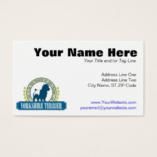 Yorkshire Terrier Business Card