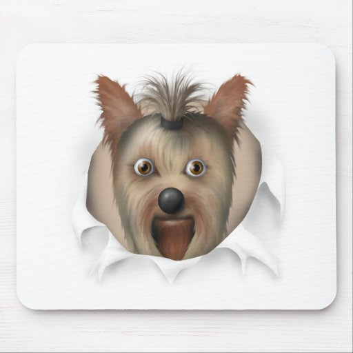 Yorkshire Terrier Busting Out Mouse Pad