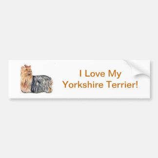 Yorkshire Terrier Car Bumper Sticker