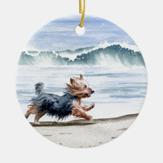 Yorkshire Terrier Ceramic Ornament