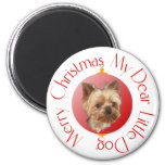 Yorkshire Terrier Christmas 2 Inch Round Magnet