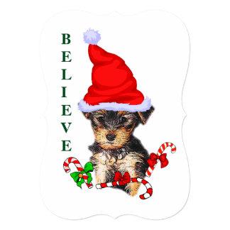 Yorkshire Terrier Christmas Card