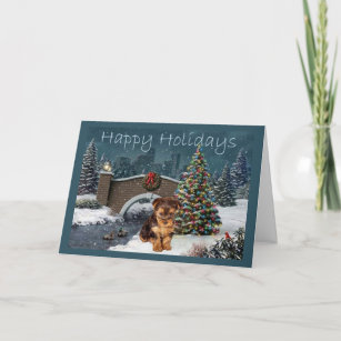 Yorkie Christmas Cards Zazzle
