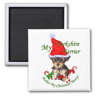 Yorkshire Terrier Christmas Gifts Magnet