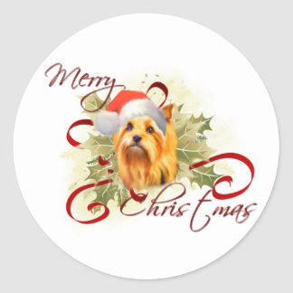 Yorkshire Terrier Christmas Stickers