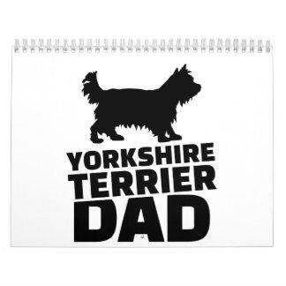 Yorkshire Terrier Dad Calendar