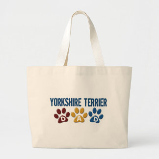 YORKSHIRE TERRIER Dad Paw Print 1 Canvas Bag
