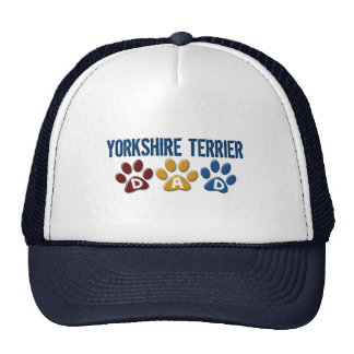 YORKSHIRE TERRIER Dad Paw Print 1 Mesh Hats