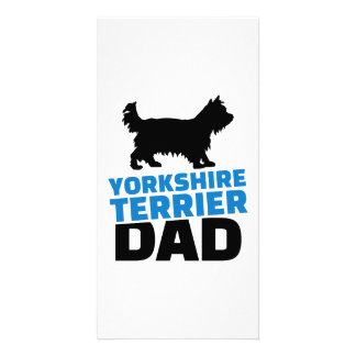 Yorkshire Terrier Dad Personalized Photo Card